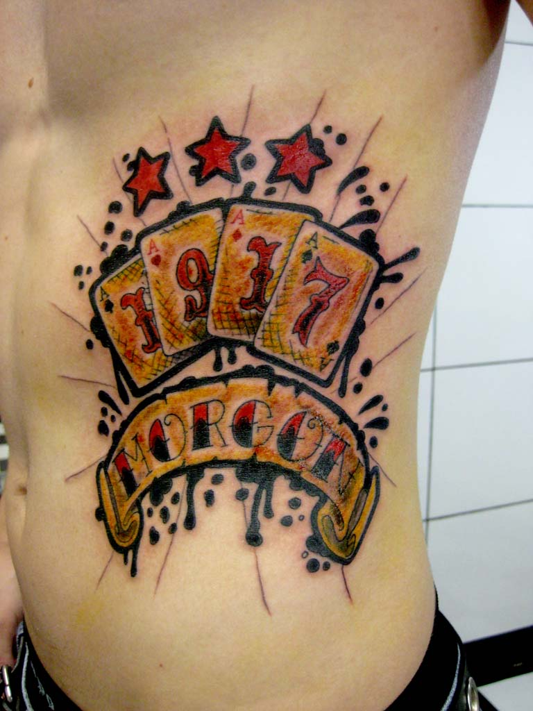 tatuaggio carte old school